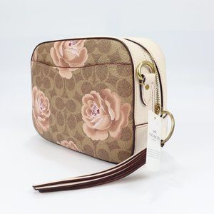 31695 B4NQ Tan Chalk Brass in Signature Rose Print